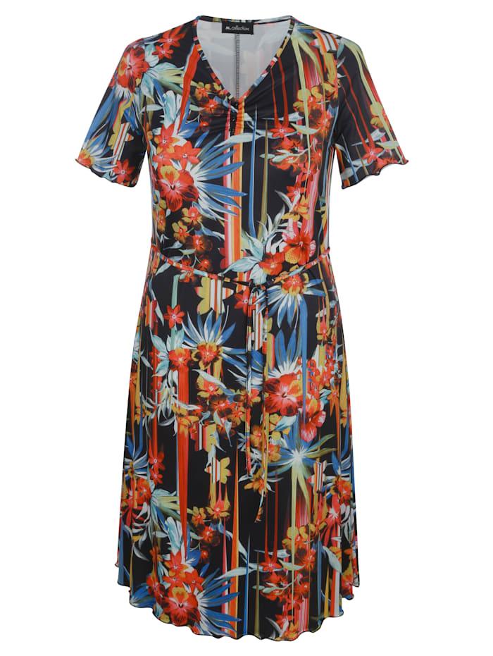 m. collection Džersej šaty s kvetinovým vzorom, Multicolor