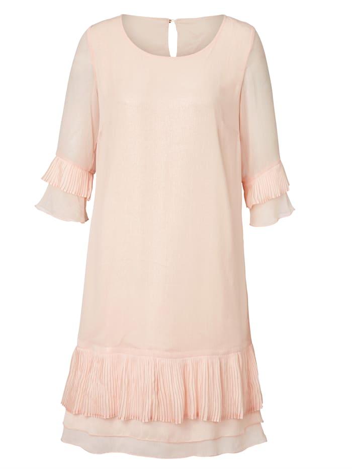 SIENNA Kleid mit dezentem Foil-Druck, rose