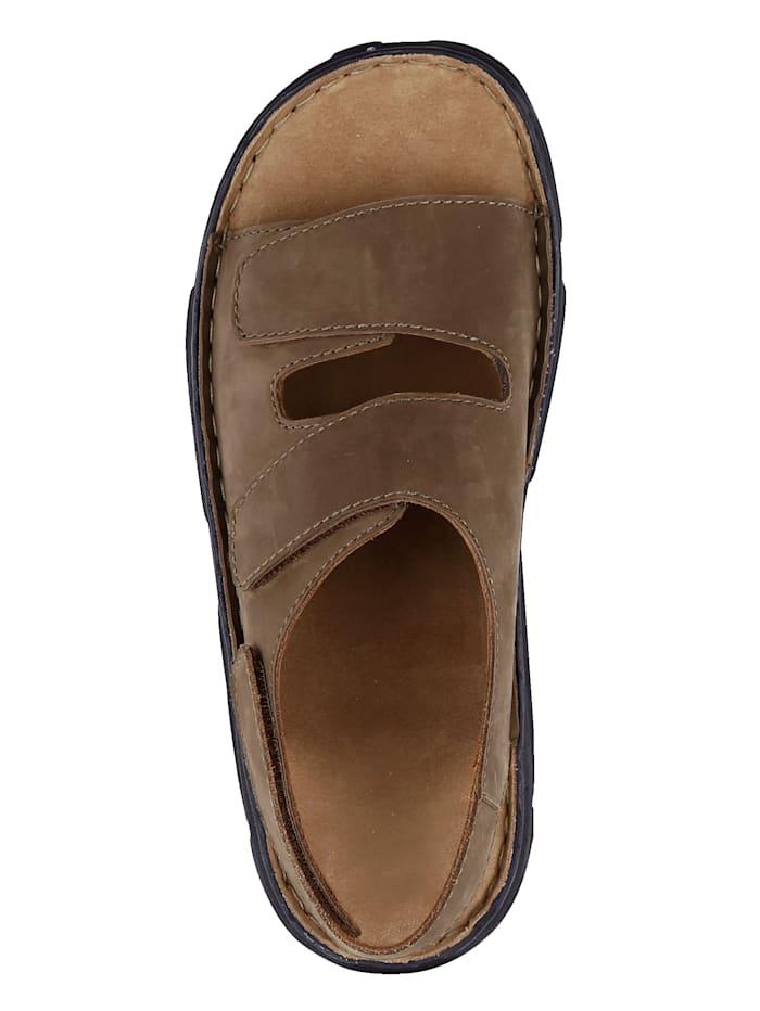 Sandale mit variablen Klettriegeln