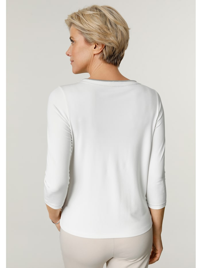 Top with shimmering detail