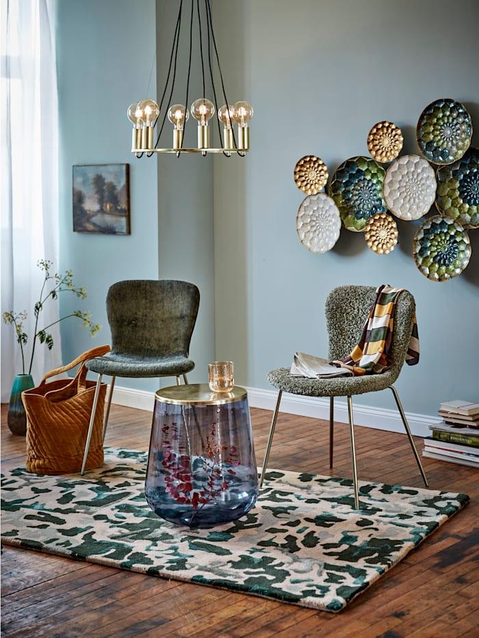 IMPRESSIONEN living Stuhl, olivefarben, Teddy-Stoff