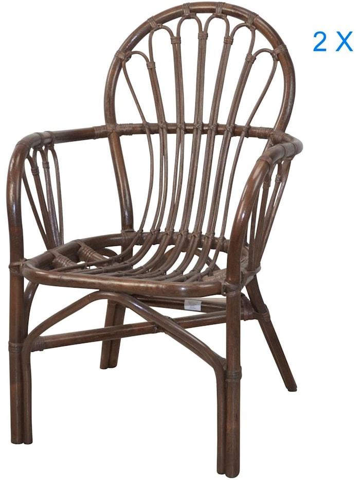 Möbel-Direkt-Online Rattansessel (2Stück) Conny, braun