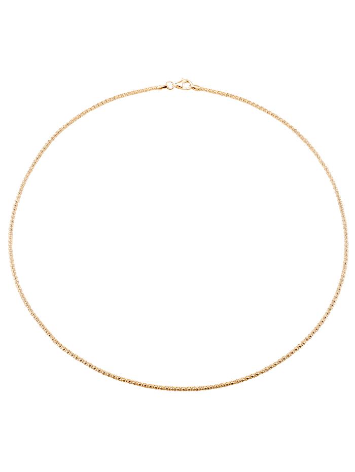 Korealaisketju / Kaulaketju hopeaa, Keltakullanvärinen