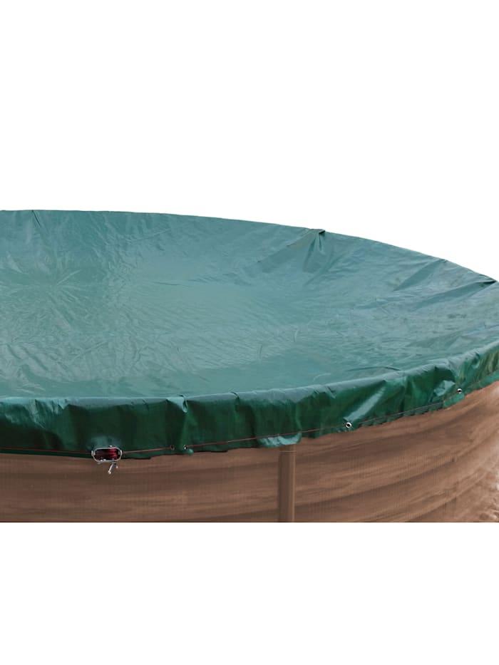 Abdeckplane für Pool oval 800x400cm  Planenmaß 880x480cm Sommer Winter