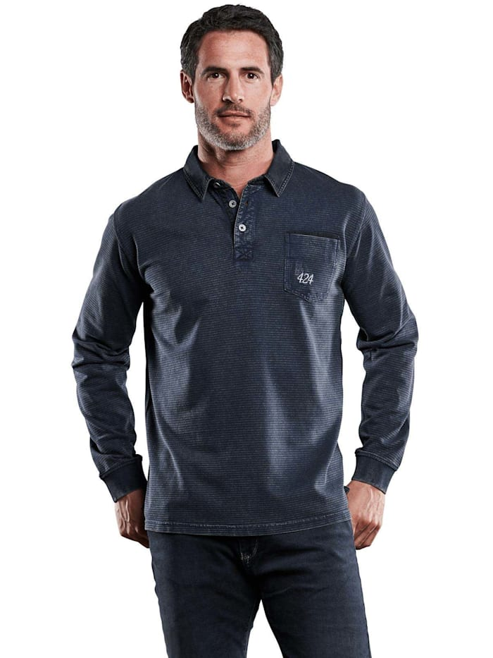 Engbers Poloshirt langarm, Marineblau