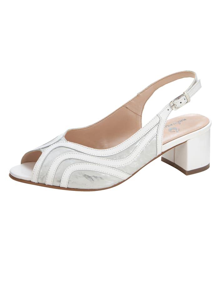 Naturläufer Sandale in klassischer Ausführung, Weiß
