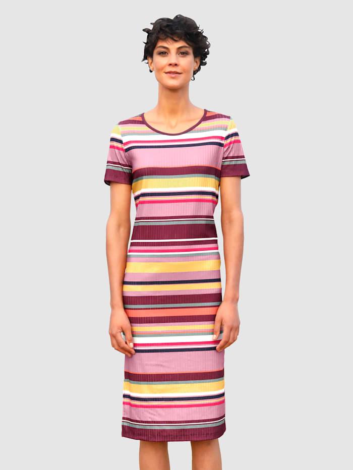 Dress In Kleid in Rippqualität, Bordeaux