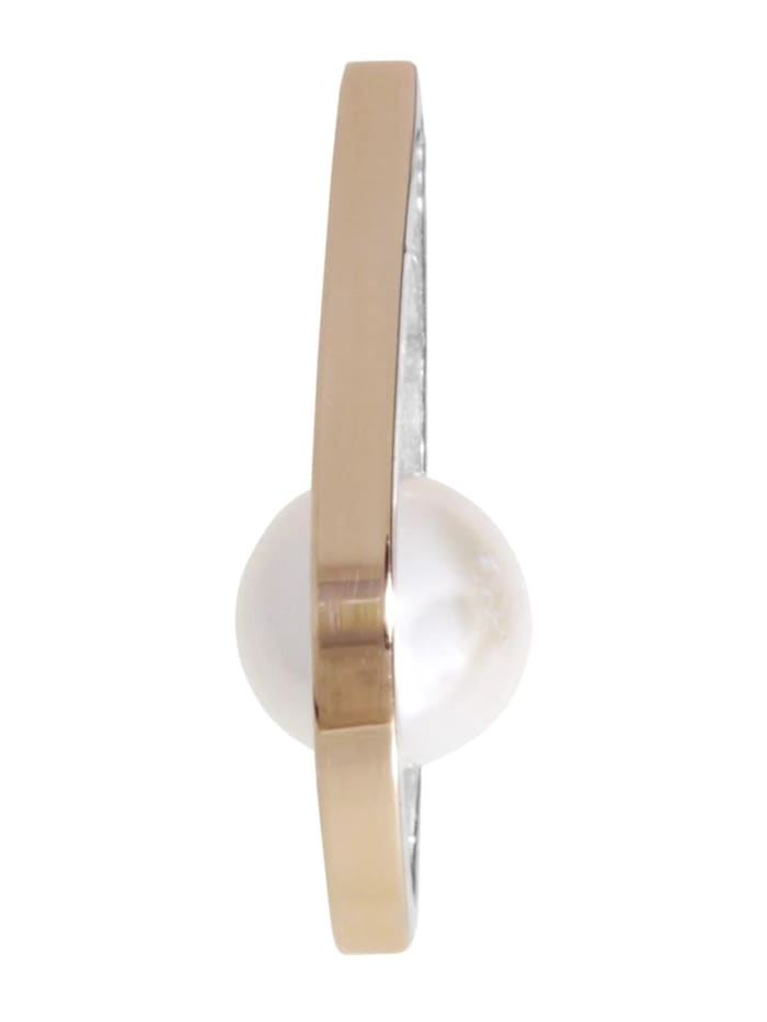 OSTSEE-SCHMUCK Anhänger - Gleiter-Sunny Exklusiv - Silber 925/000 & Gold 585/000 - Zuchtperle, silber