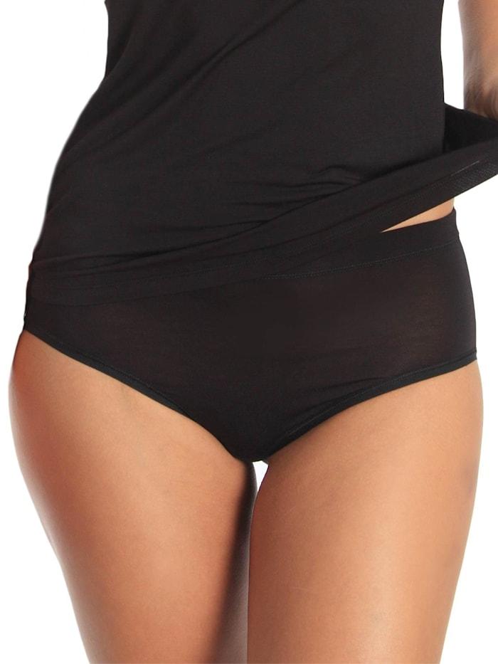 sassa Damen Midi Slip Lovely Skin, black