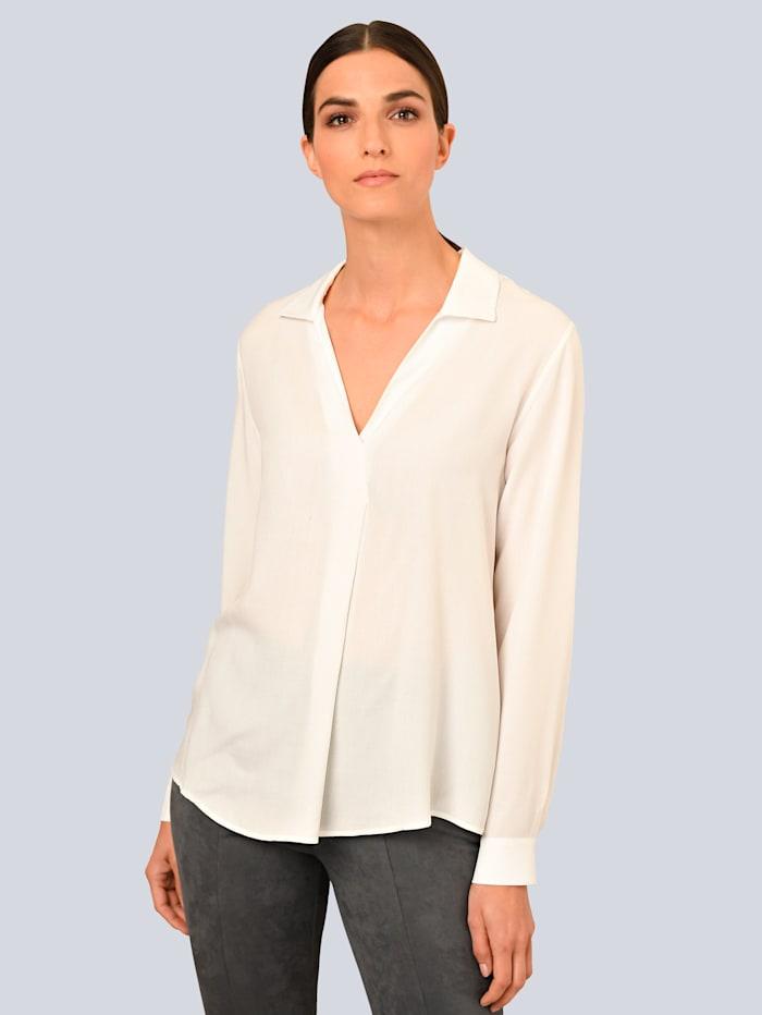 Alba Moda Bluse mit breitem Kragen, Off-white