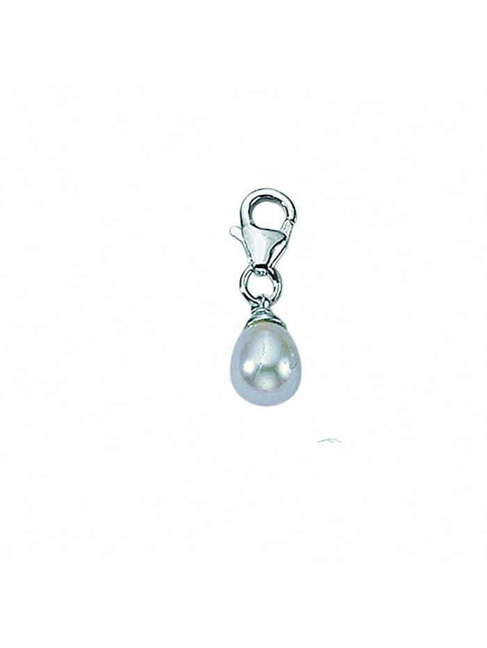 1001 Diamonds Damen Silberschmuck 925 Silber Charms Anhänger mit Süßwasser Zuchtperle, silber