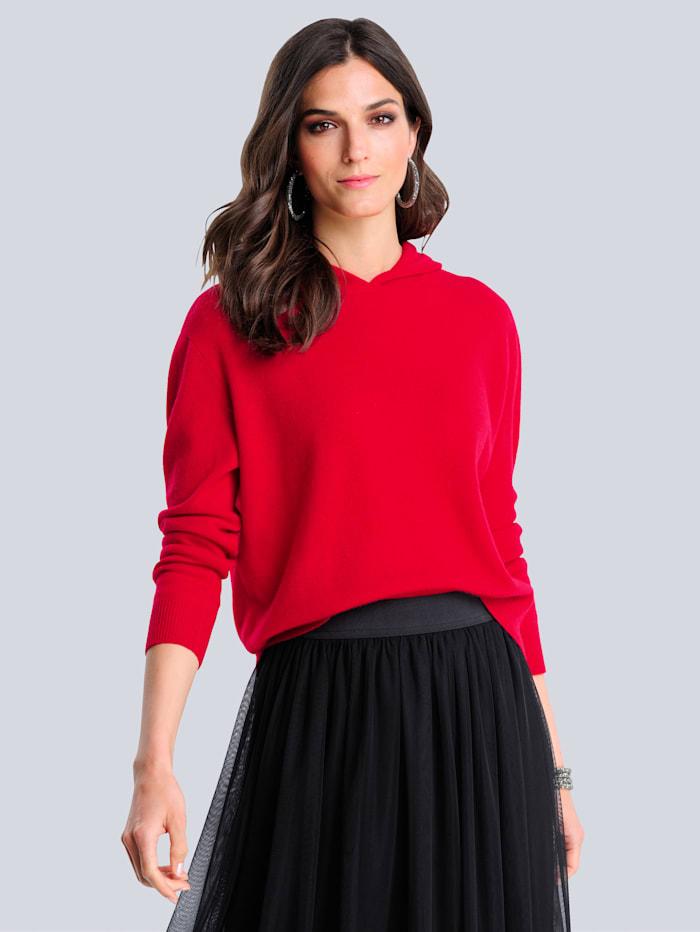 Alba Moda Pullover mit Kaschmiranteil, Rot