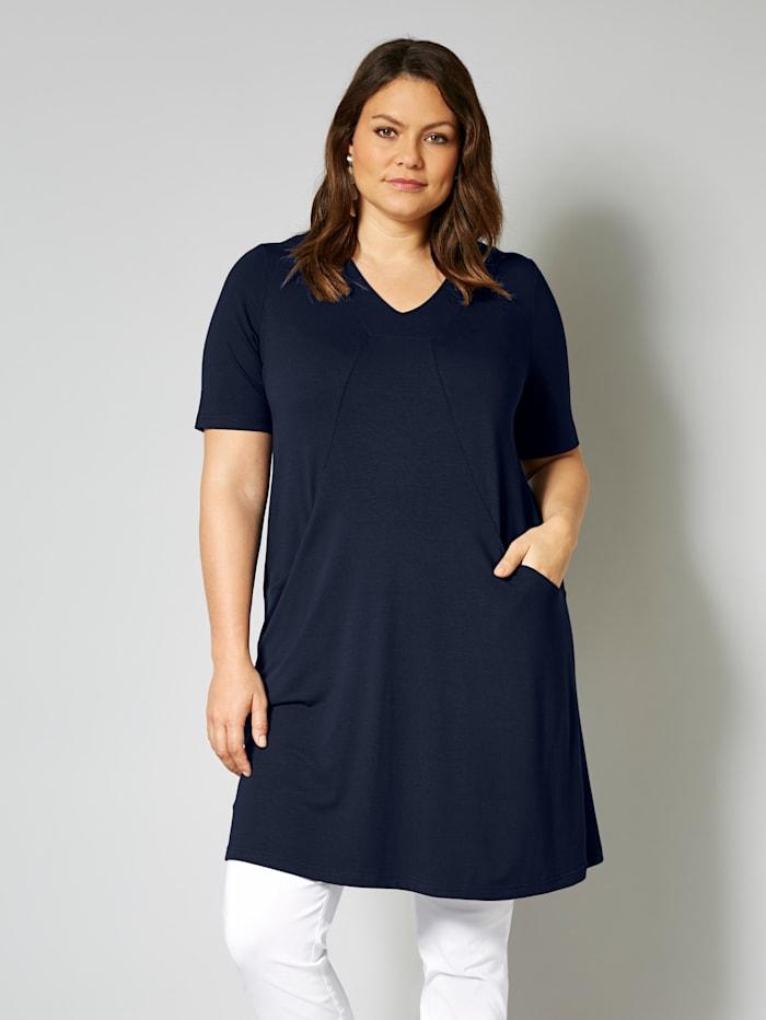 MIAMODA Kleid in Shirt-Qualität, Marineblau