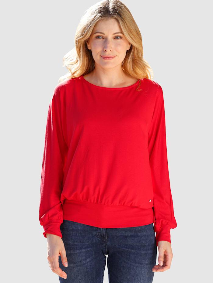 Laura Kent Shirt in flatterend model, Rood