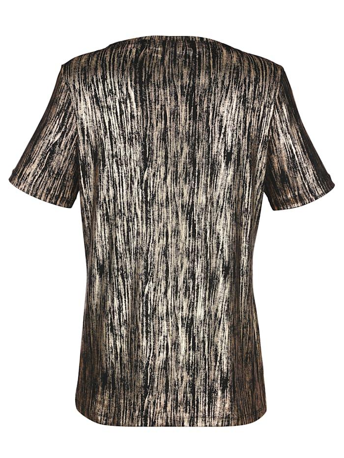 T-shirt à imprimémétallisé