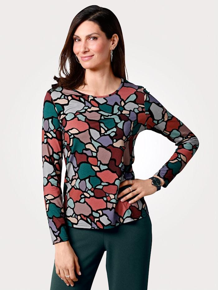 MONA Shirt mit Allover-Druck, Grün