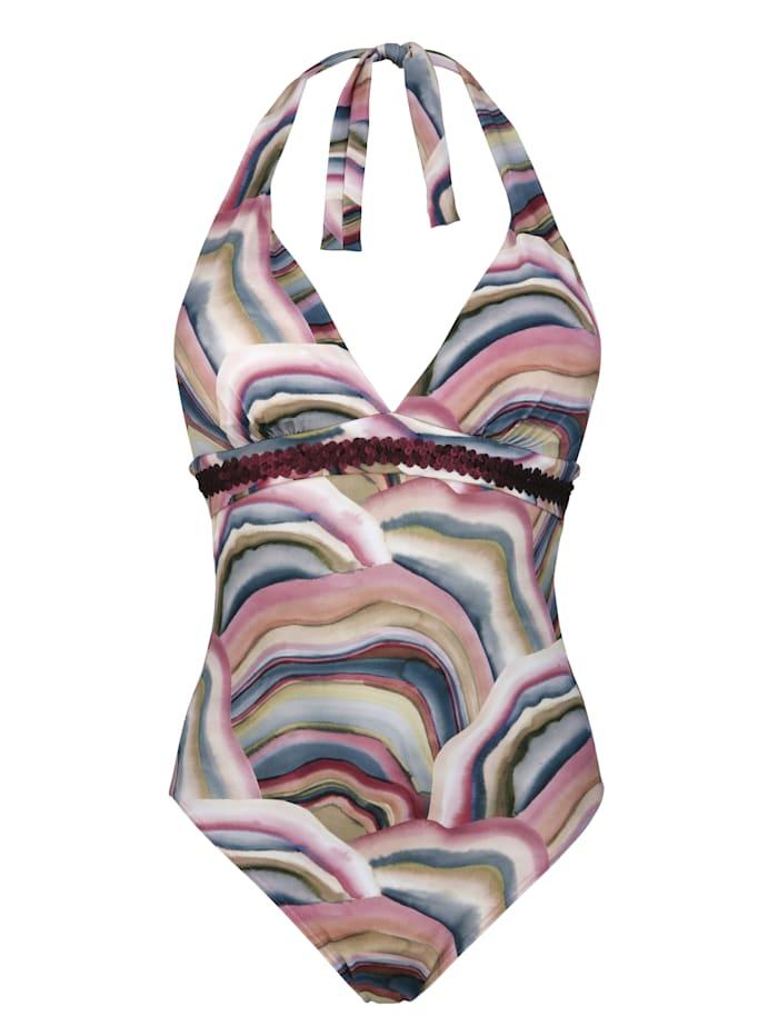 Olympia Badeanzug aus recycelten Fasern, Altrosa