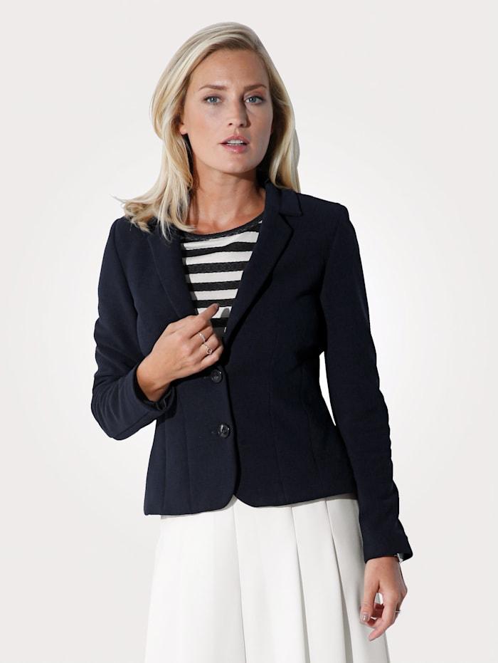 MONA Blazer aus elastischer Jerseyqualität, Marineblau