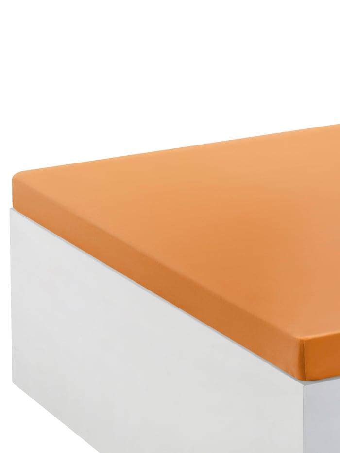 Webschatz Topper-Spannbettlaken, Terracotta