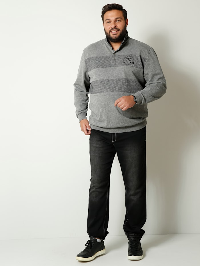 Sweatshirt met platte kraag