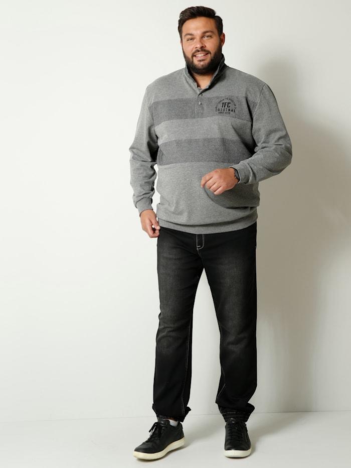Sweatshirt mit Umlegekragen