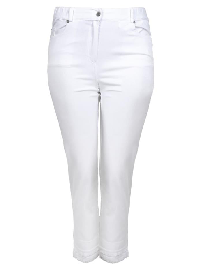 seeyou 7/8-Jeans aus Knit Denim, reinweiss