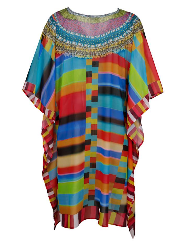 Poncho in bunten Sommerfarben