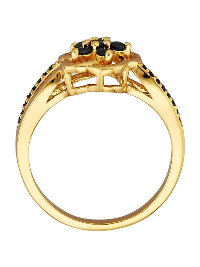 Blumen-Ring mit Saphiren