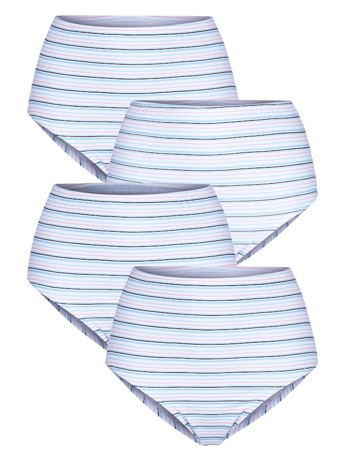 Harmony Taillenslips im 4er-Pack, Weiß/Hellblau/Rosé
