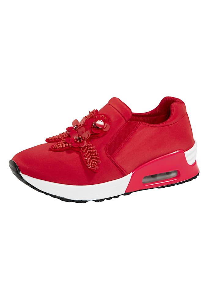 Liva Loop Slipper obuv z elastického textilného materiálu, Červená