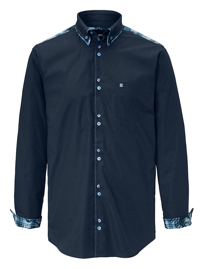 BABISTA Overhemd met bijzondere knoopsluiting, Marine