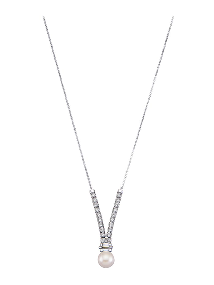 AMY VERMONT Halsband med odlad sötvattenspärla, Vit