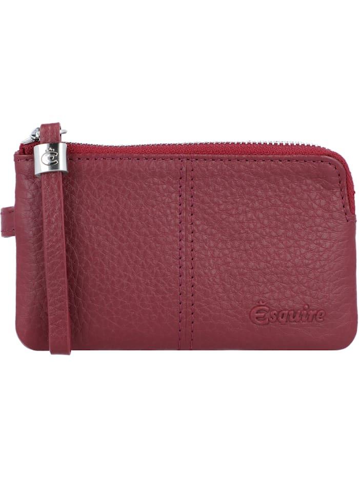 Esquire Verona Schlüsseletui Leder 13 cm, rot