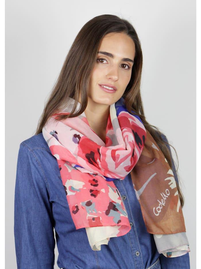 Softweicher Blumen-Schal aus recyceltem Polyester