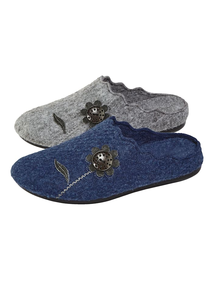 Belafit Pantoffeln im 2-er Pack, Grau