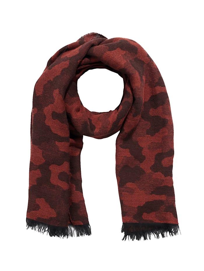 REKEN MAAR Schal, Orange/ Camouflage