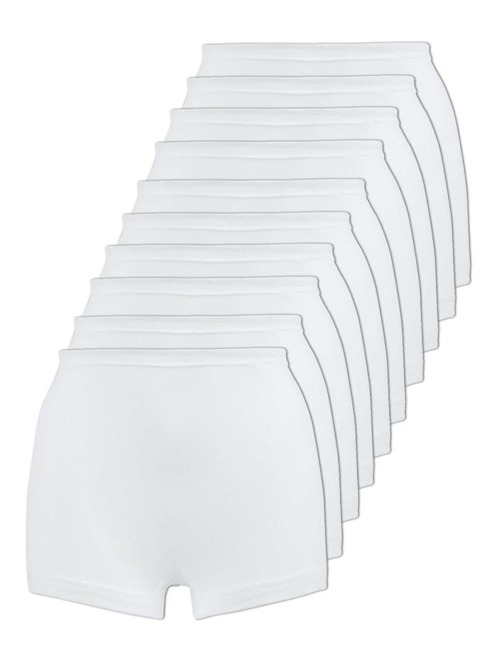 Naturana 10er Sparpack Damen Pagenschlüpfer, Weiss
