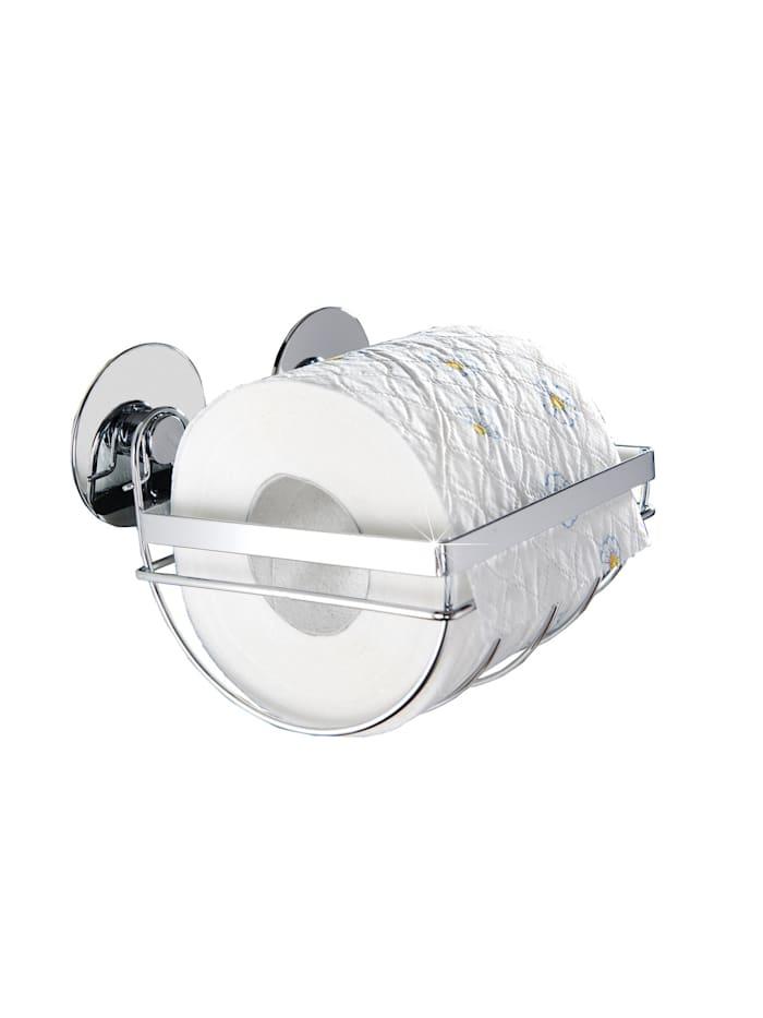Wenko TurboFIX Edelstahl Toilettenpapierhalter, rostfrei, Befestigen ohne bohren, Silber