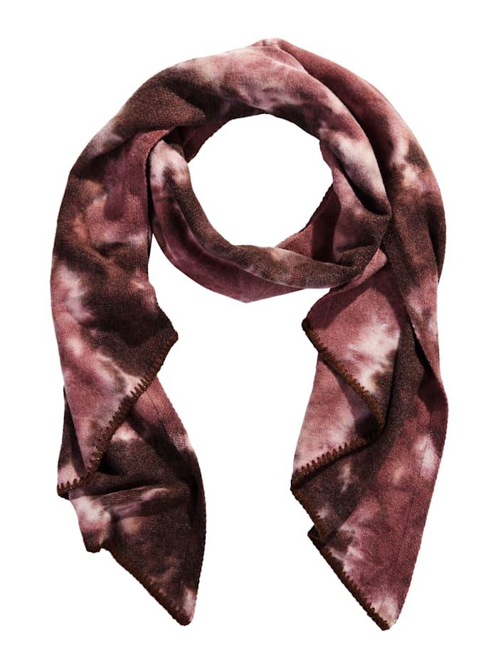 REKEN MAAR Schal mit Batik-Muster, Rosé