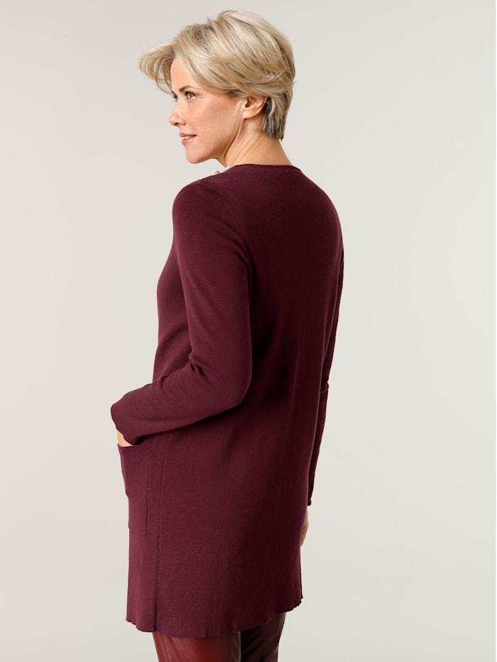 Dlhý sveter s aplikáciou perličiek