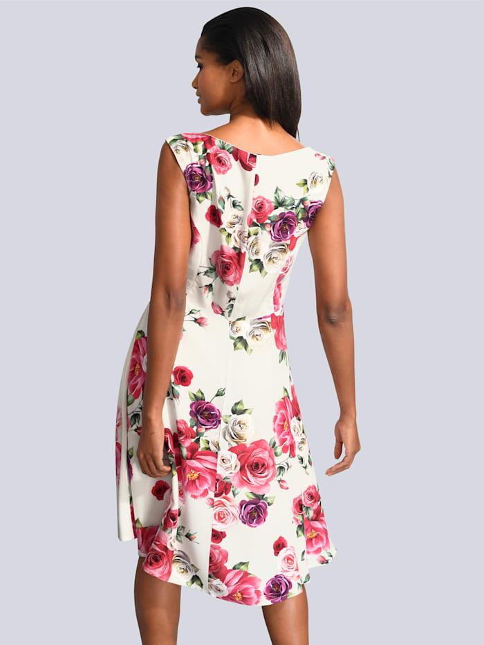 Kleid allover im exklusivem Alba Moda Druck