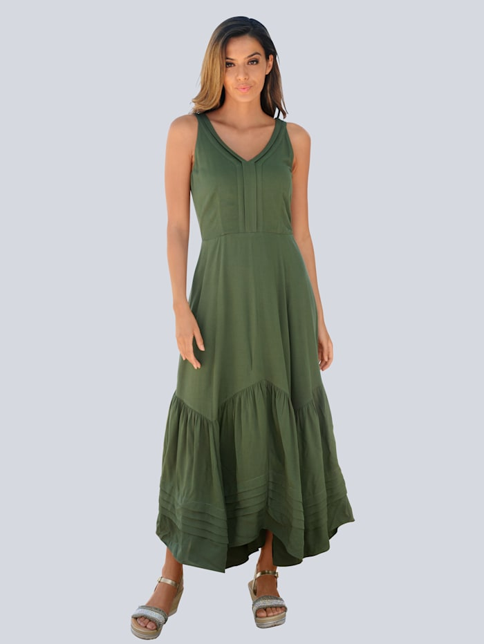 Alba Moda Strandkleid mit Volant, Khaki