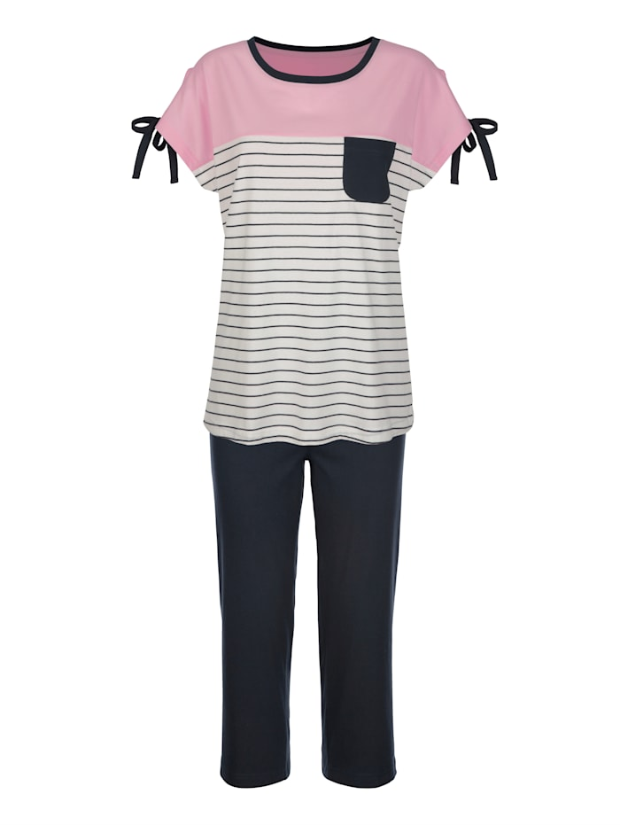 Blue Moon Pyjama, Marine/Ecru/Roze