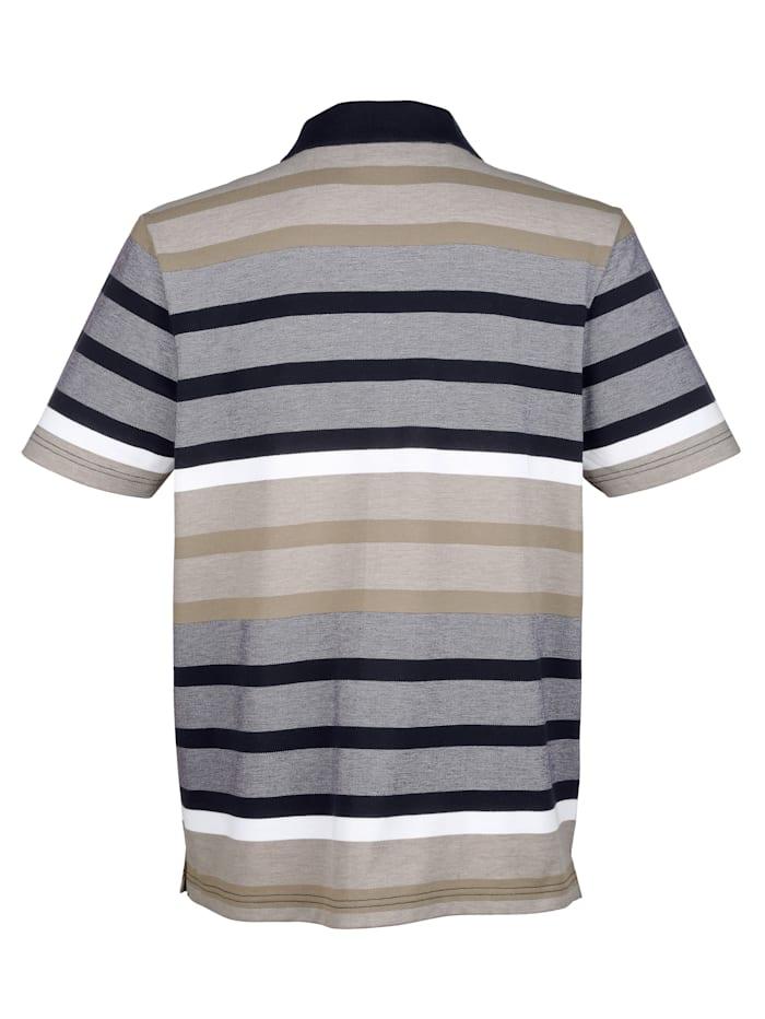 Poloshirt in garngefärbtem Streifenmuster