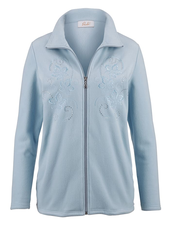 Paola Fleece vest van zacht materiaal, Lichtblauw