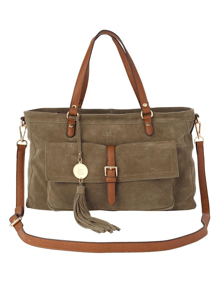 Handtasche aus hochwertigem Veloursleder