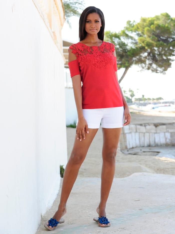 Strandshirt im Offshoulder-Stil