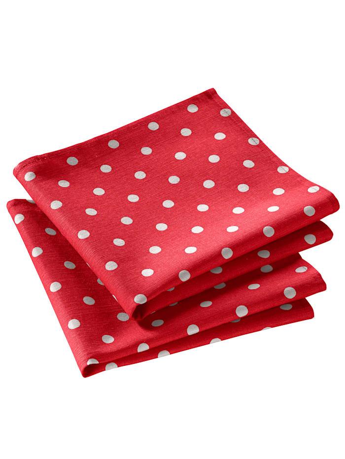 Kracht Geschirrtuch 'Punkte' im 2er-Pack, rot