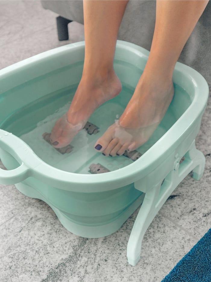 UBTC Bain de pieds pliable Se plie et se déplie facilement, Vert