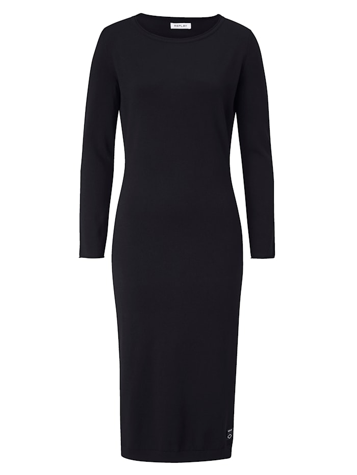 REPLAY Strickkleid, Schwarz